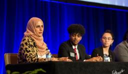 students present at advocacy conference