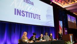 students present at advocacy institute
