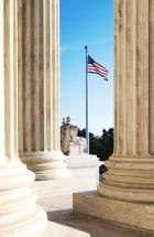 The marble columns of the Supreme Court of the United States